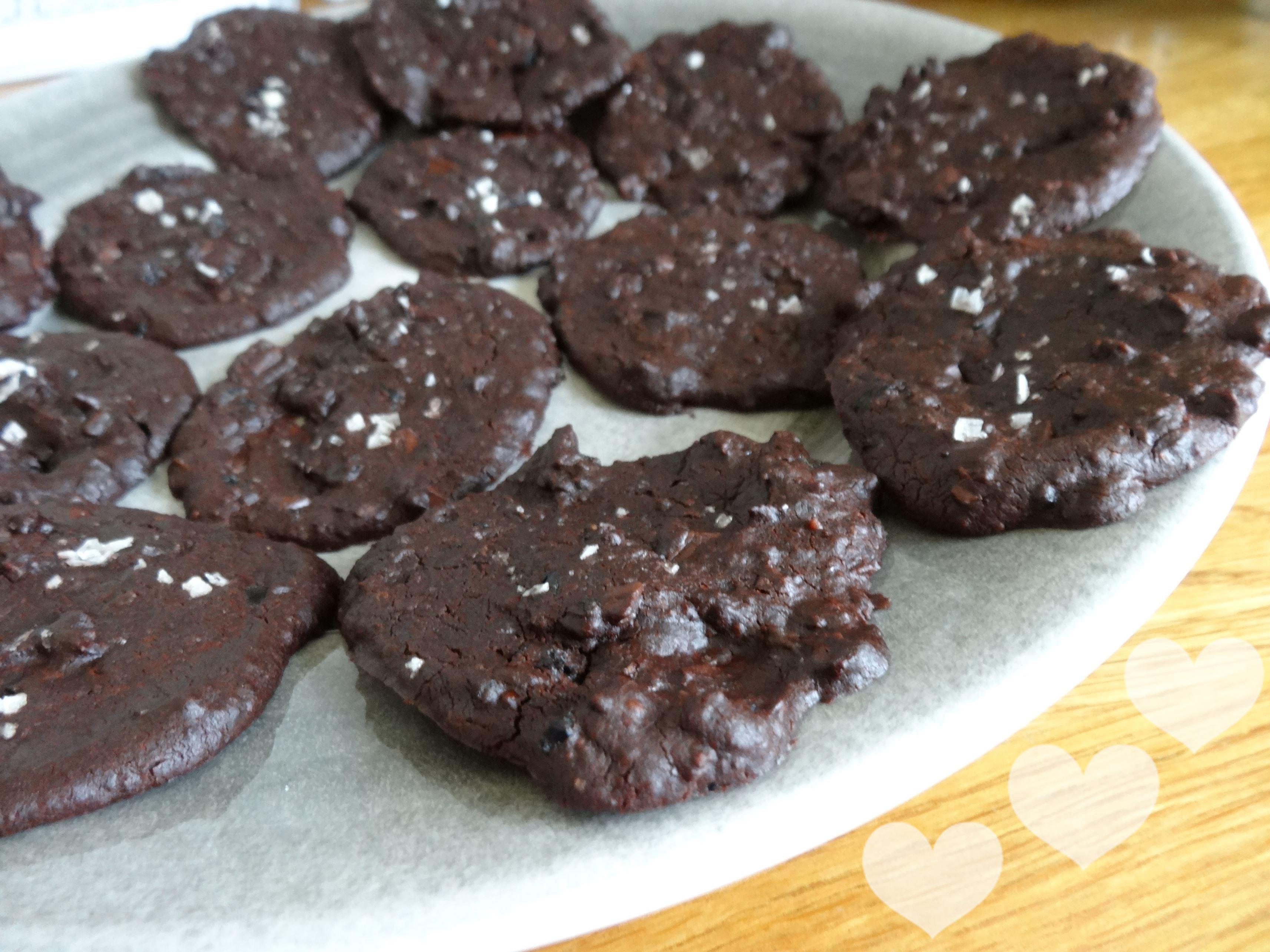 Black bean chocolate chili cookies hjärtan