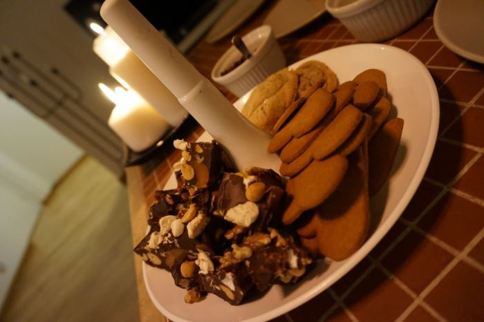 Julfika och recept på pepparkakscookies (1)