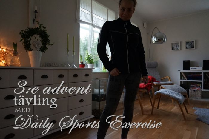 daily sports exercise adventstävling 3e advent