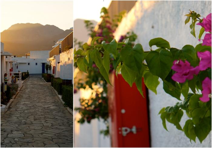 Kreta kvällsljus collage