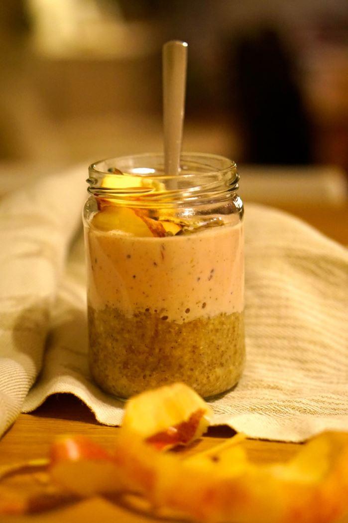 porridge with smoothie