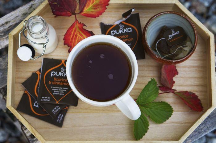 Pukka te i september