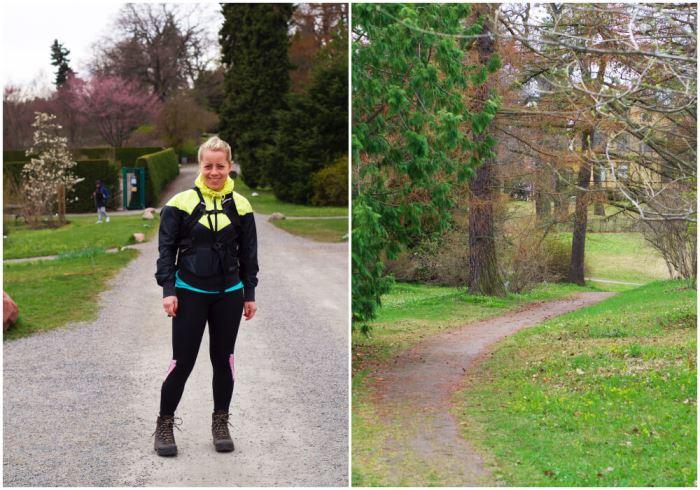 Karin på promenad i Bergianska trädgården - Brunnsviken runt