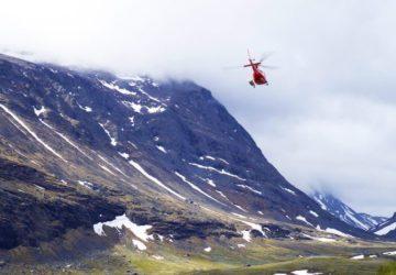 Helikopter i Kebnekaise