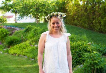 Karin Axelsson på midsommardagen