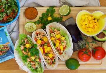 Fish Taco lax koriander mango och avokado