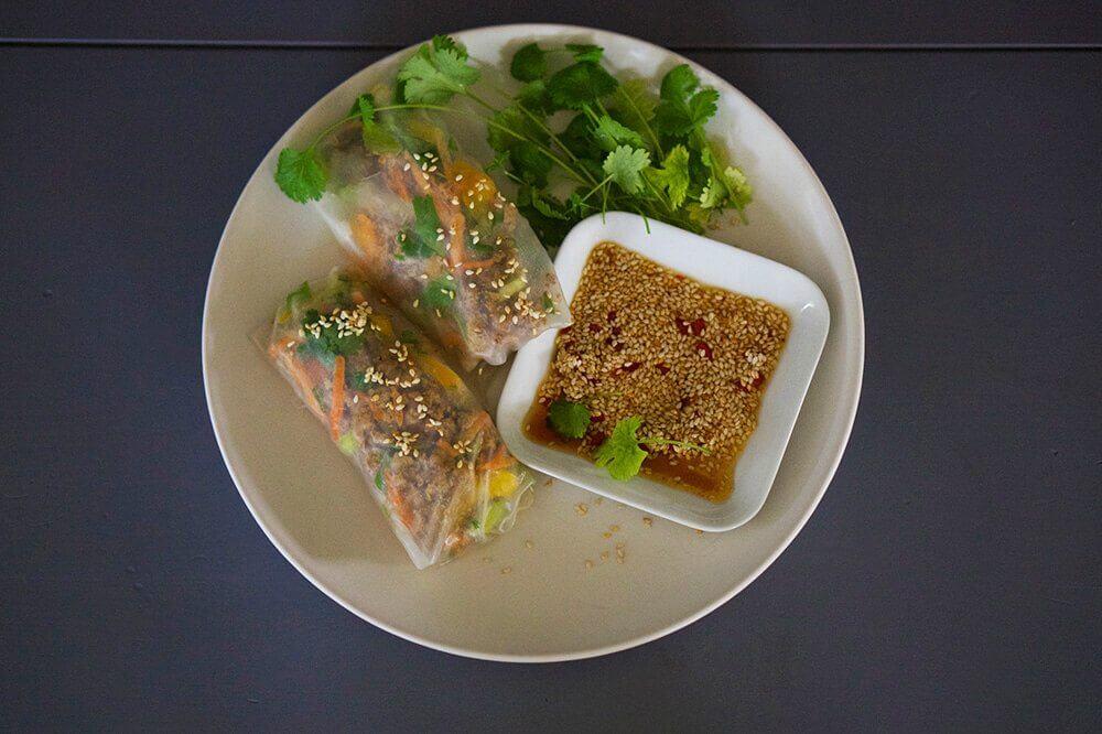 vegetariska vårrullar
