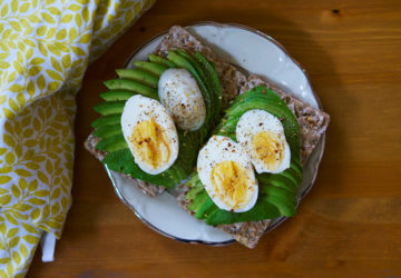 Knäckebröd med avokado och ägg