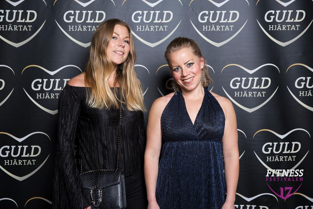 Karin Rahm och Karin Axelsson på Guldhjärtat 2017