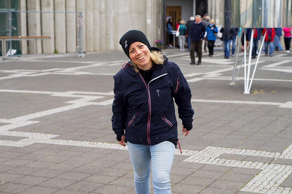 Karin i Reykjavik, huvudstaden på Island