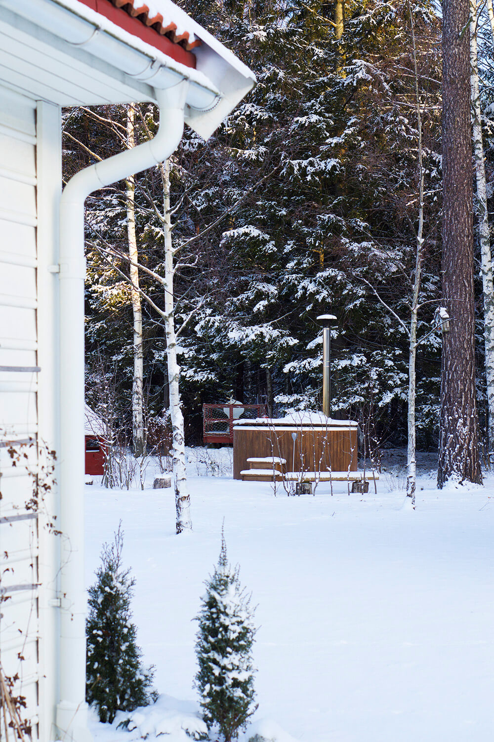 Snö och vinter hemma hos oss