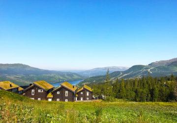 Åre, utsikt från berget i Björnen