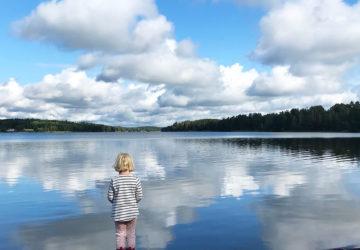 Årets sista dopp - i Lejondalssjön