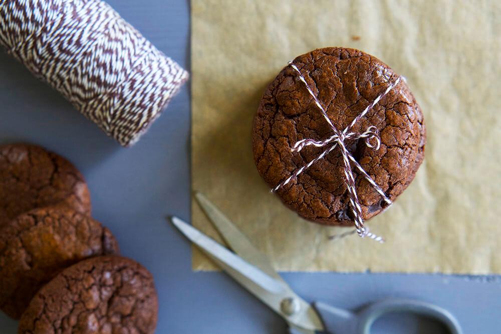 Chokladiga kladdkakekakor recept