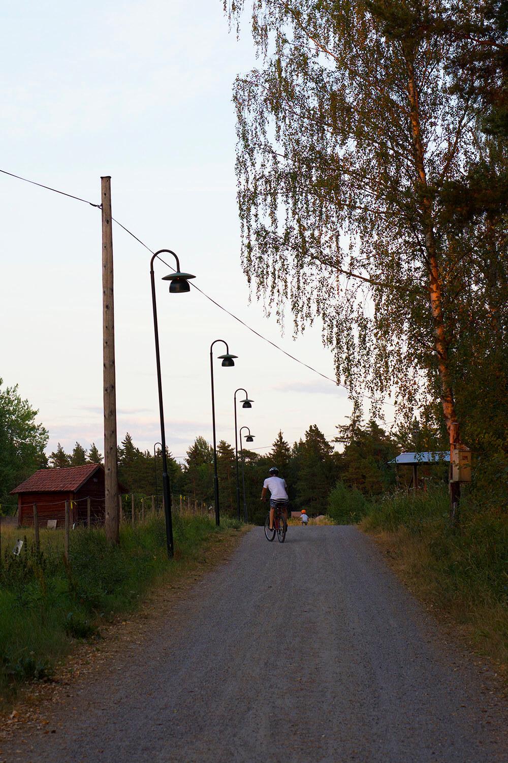 Cykeltur på kvällen