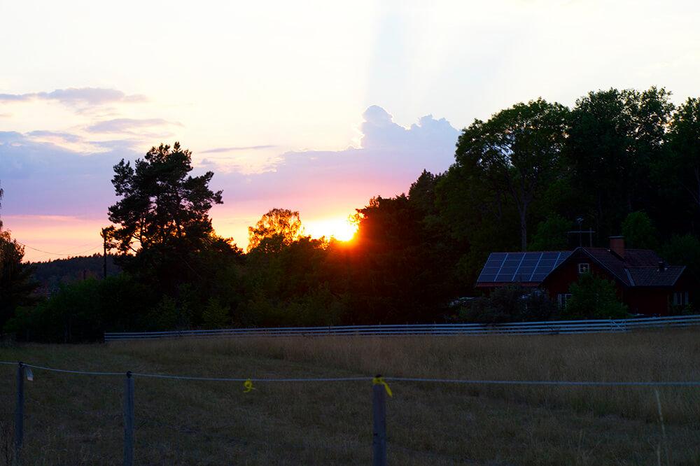Vacker solnedgång