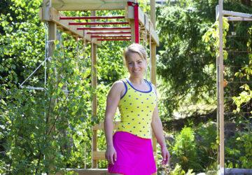 Karin Axelsson - bygga utegym i trädgården
