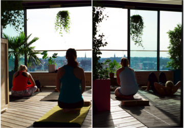 Yoga på Stockholm under stjärnorna