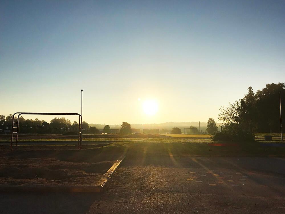 En vacker morgon i september