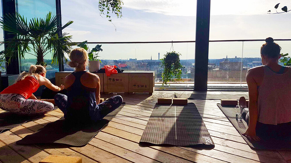 Aktiviteter med jobbet - yoga