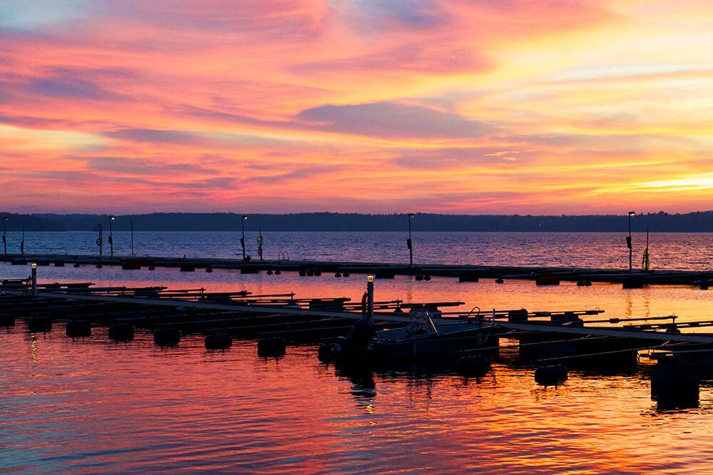 Solnedgång i Bolinder Strand