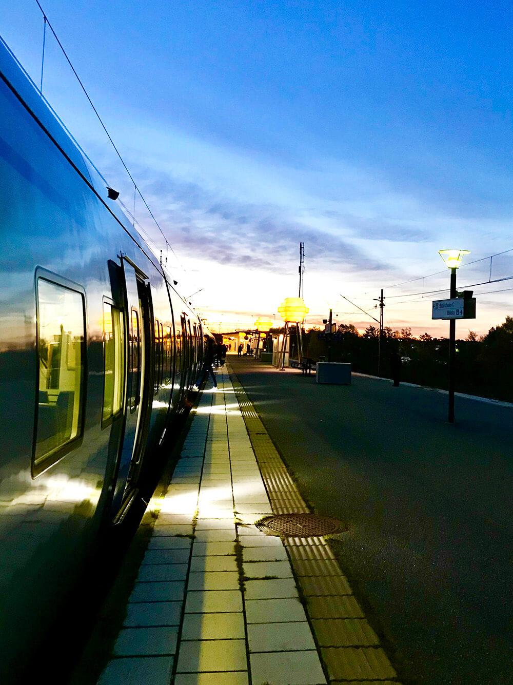 morgon på stationen