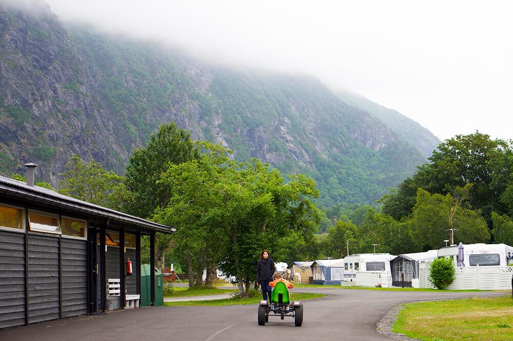Åndalsnes camping i Norge
