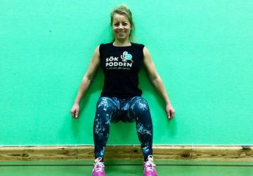 Karin Axelsson tränar jägarvila