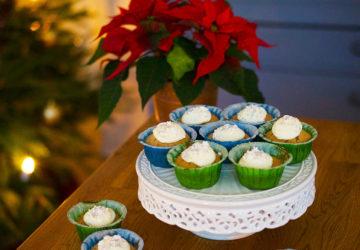 Pepparkaksmuffins med glasyr recept