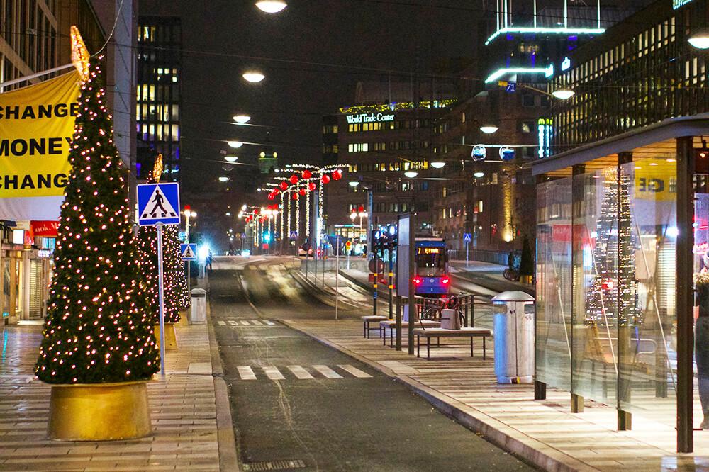 Stockholm en vintermorgon