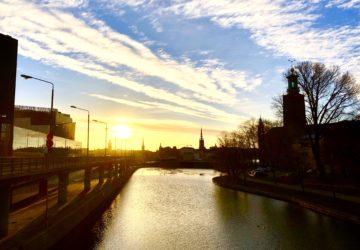 Soluppgång i Stockholm i februari