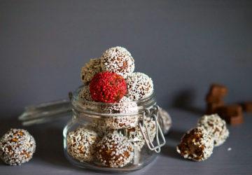 Chokladbollar med nougathjärtan recept