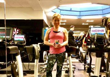 Karin i gymmet