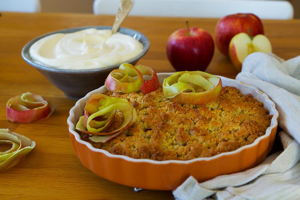 Knäckig äppelpaj recept