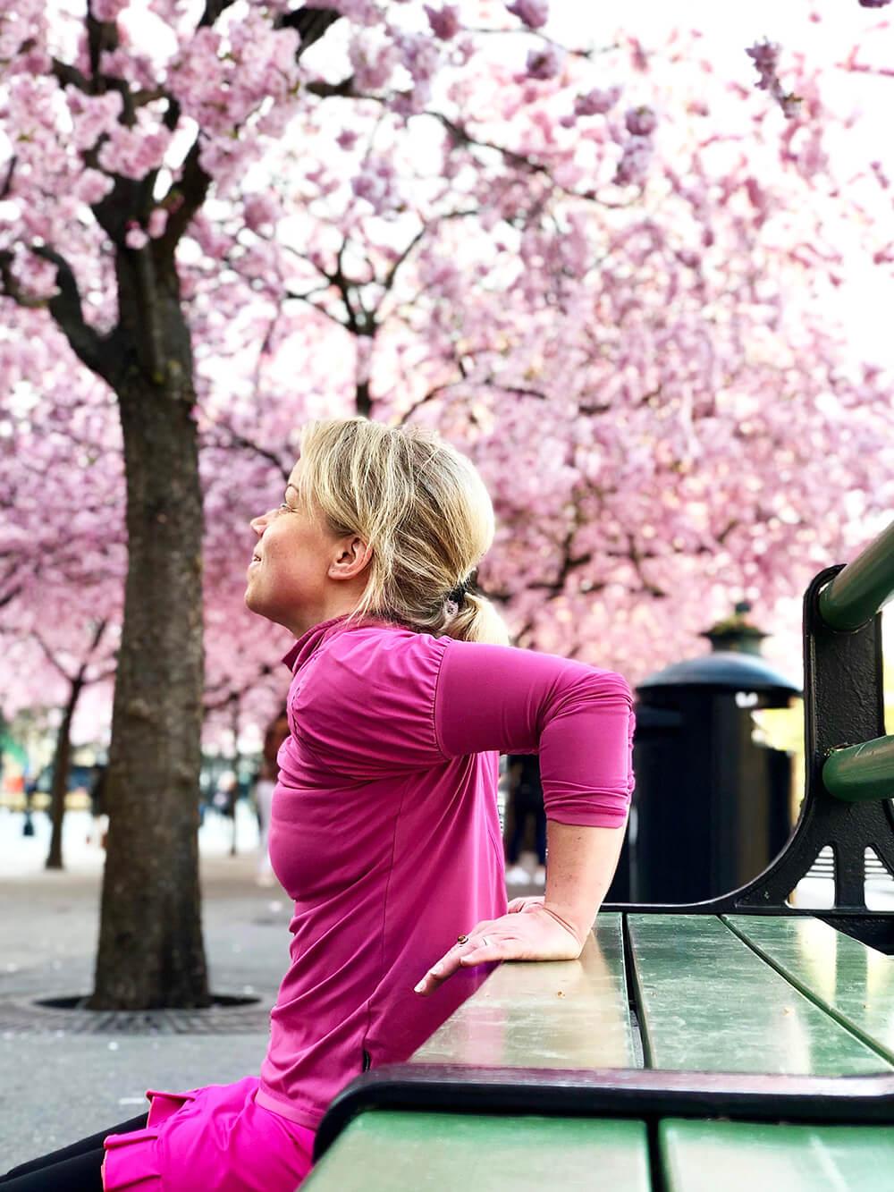 Ett träningspass i Kungsträdgården