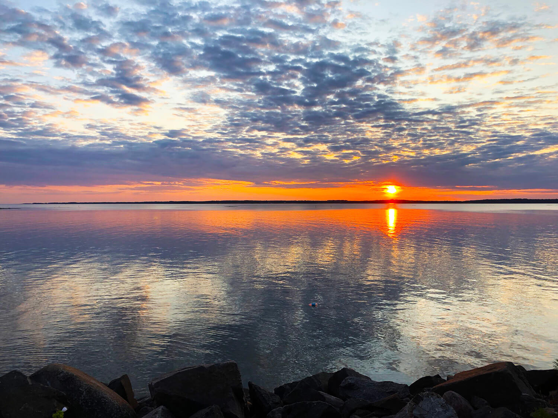 Solnedgång på campingen i Ekudden, Mariestad