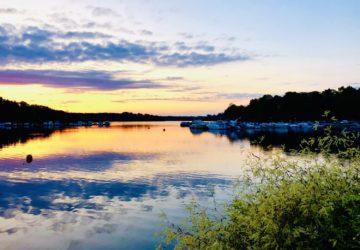 solnedgång Brunnsviken