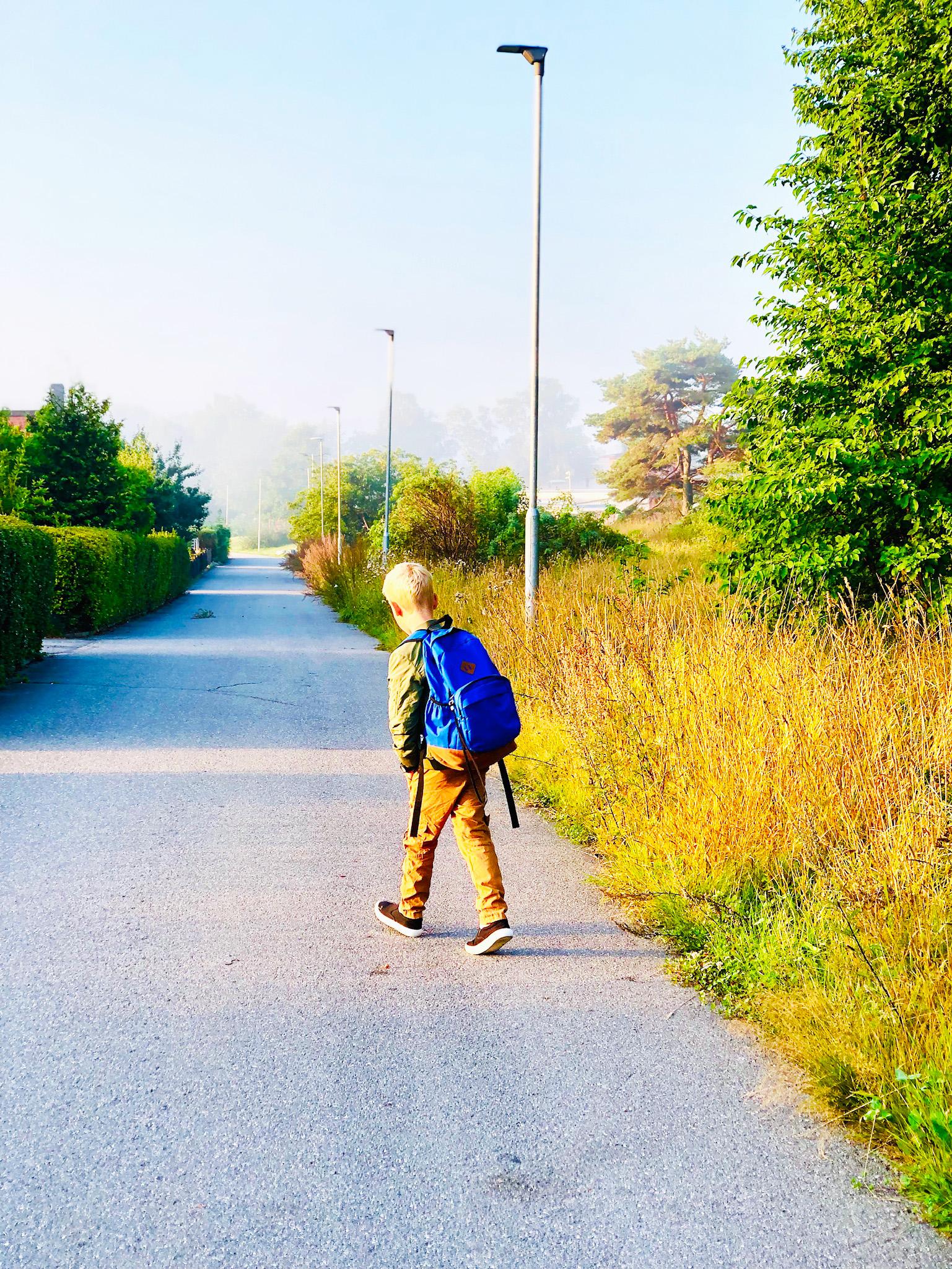En värdefull morgonrutin - promenad till fritids