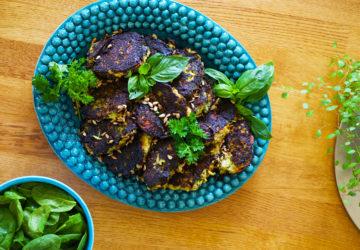 Zucchinibiffar från trädgården - mitt recept
