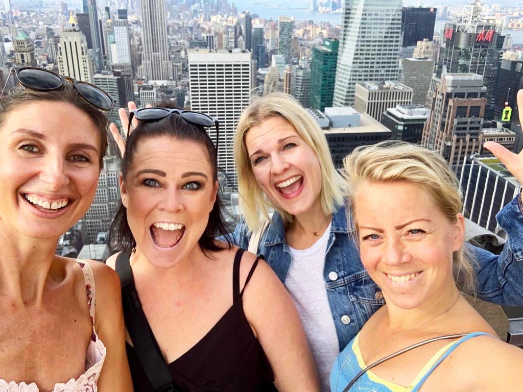 Vårt 40-årsfirande i New York - på Top of the Rock