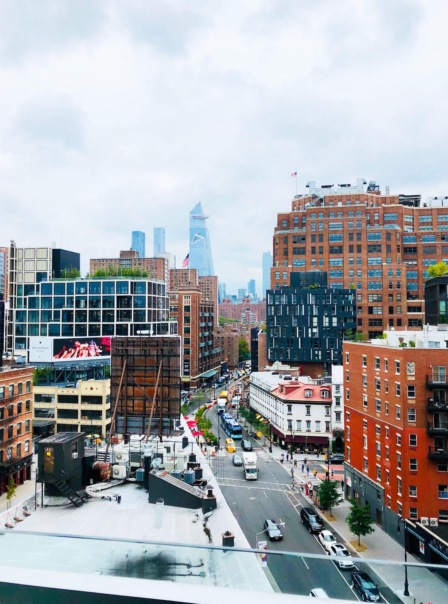 Vårt 40-årsfirande i New York - utsikt från hotellrummet