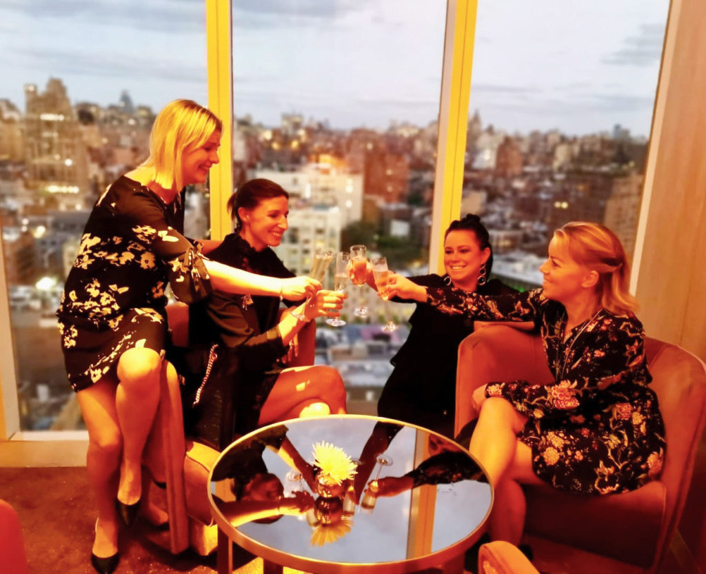 Jag och tjejerna i New York