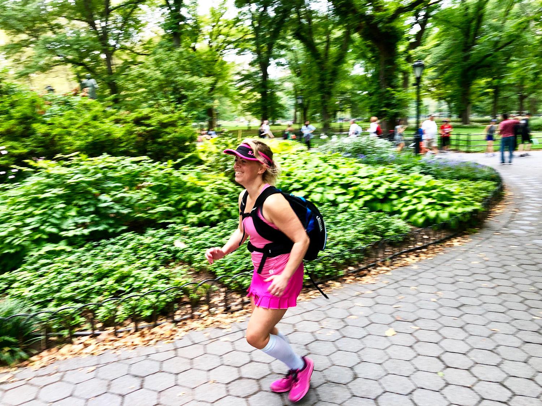 Löpning i Central Park