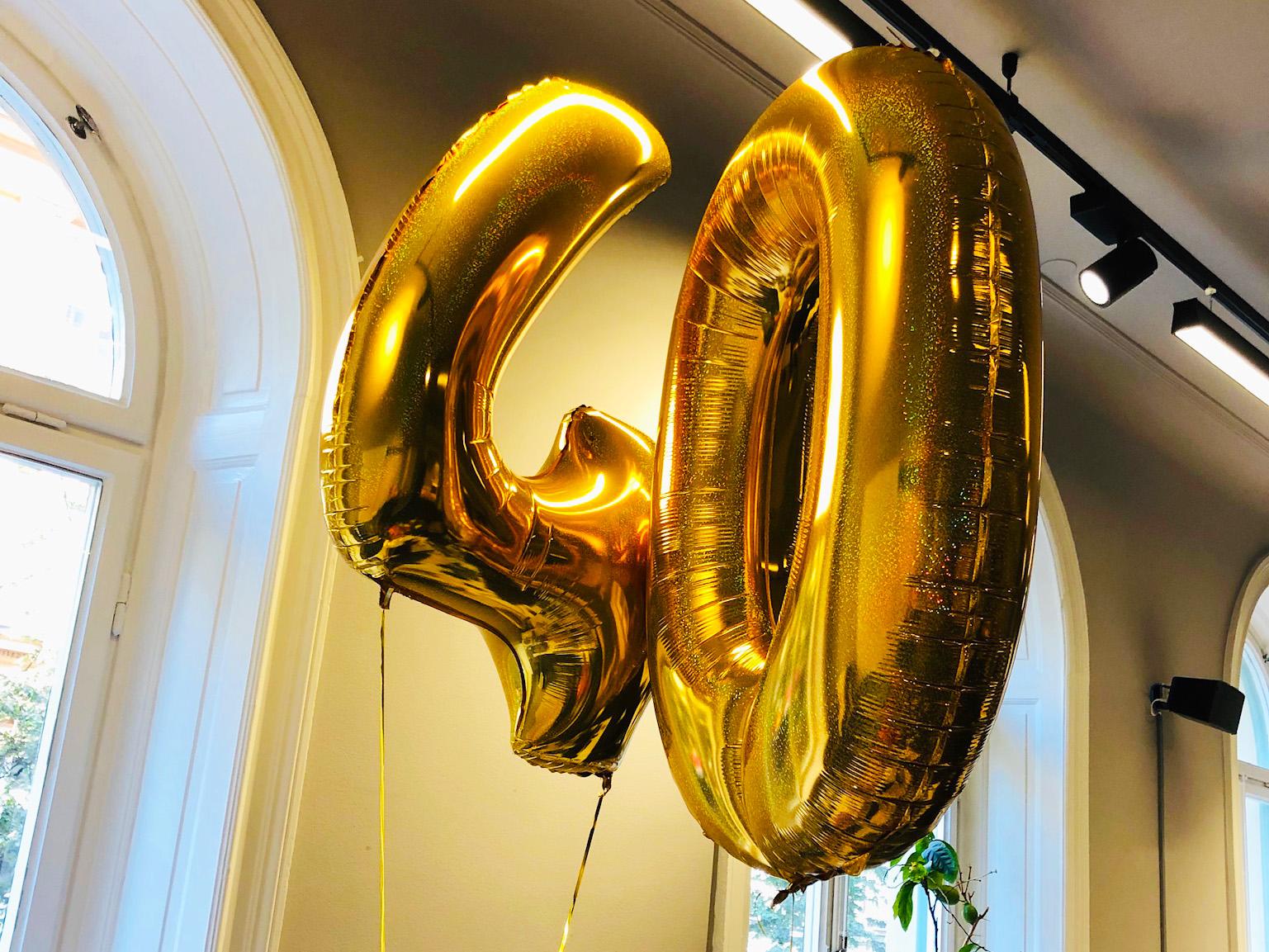 Det magiska med att fylla 40 år - från min 40-årsdag