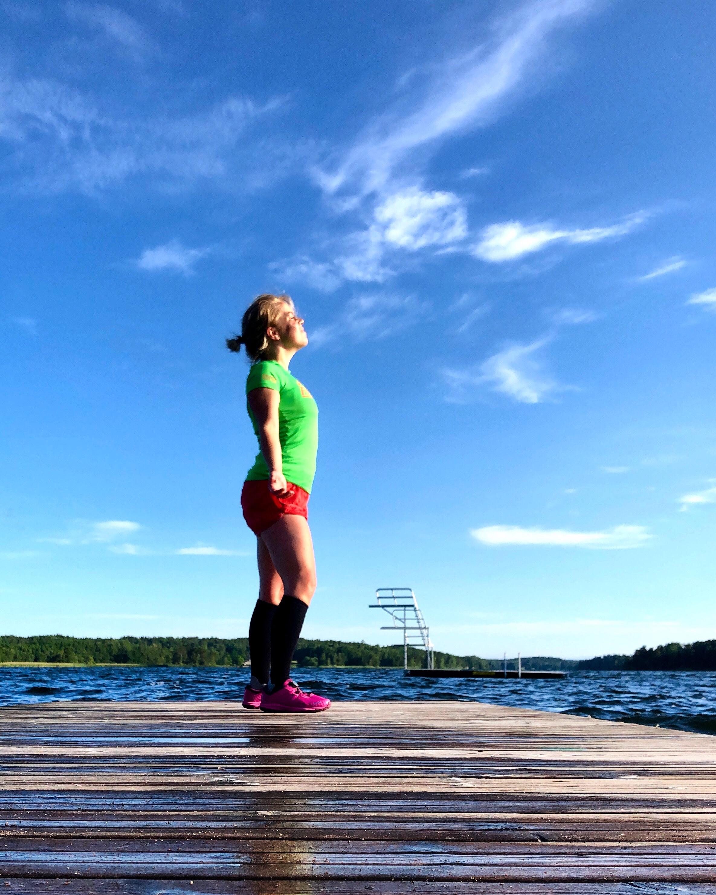 Karin Axelsson på bryggan