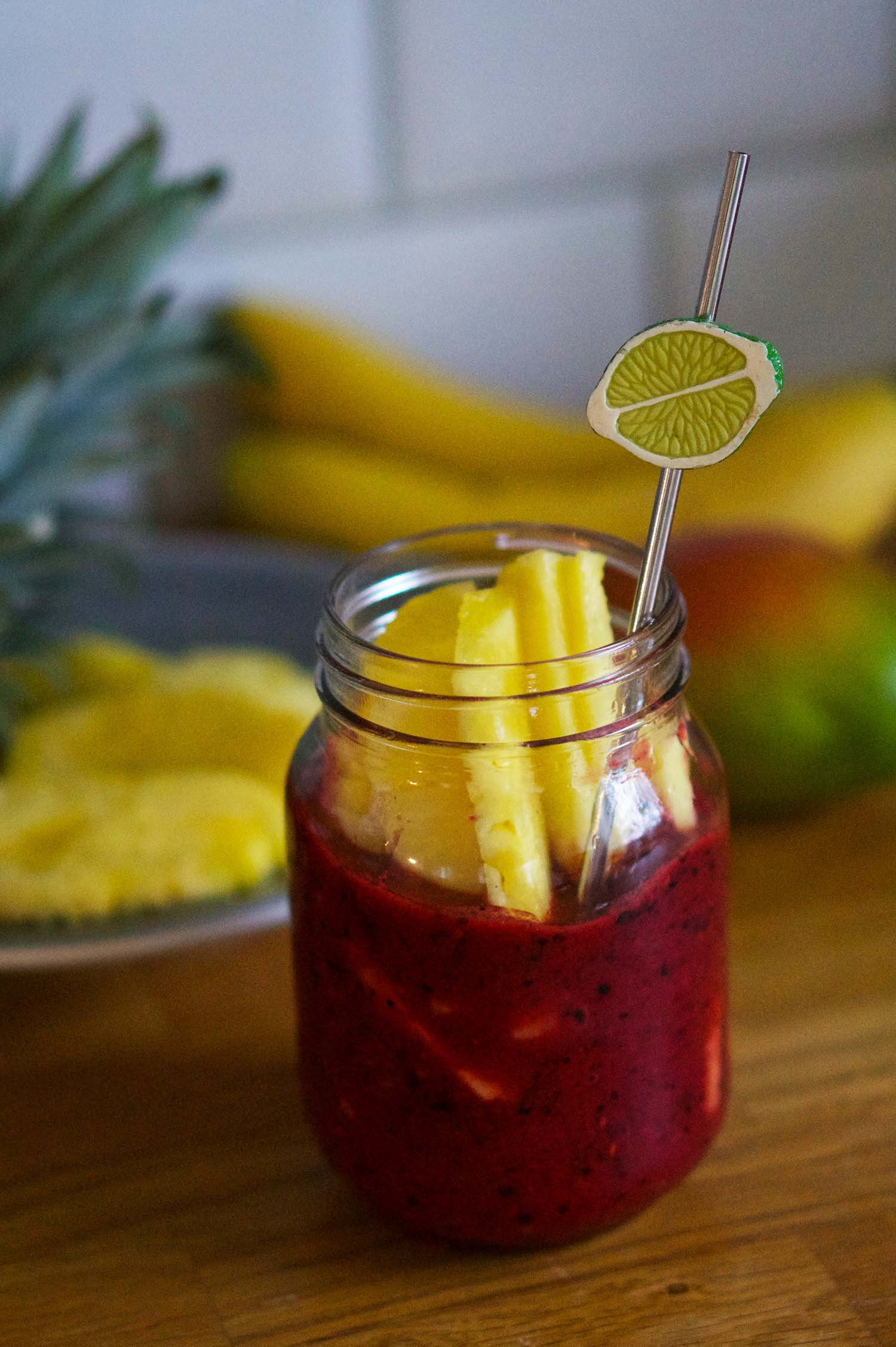 Frukt- och bärsmoothie recept