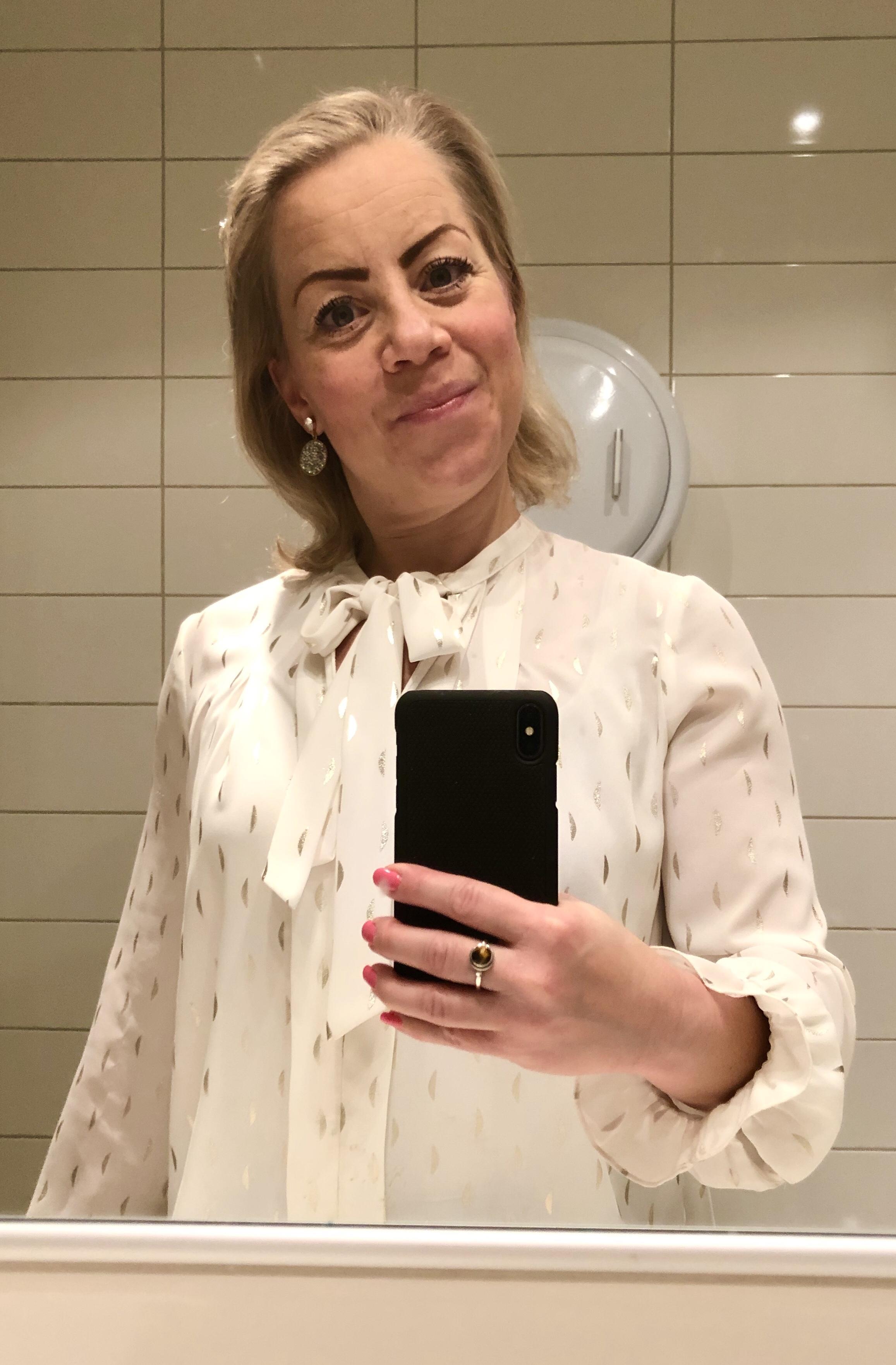 Karin Axelsson efter morgonpromenad