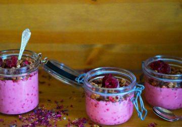Sockerfri hallonyoghurt recept