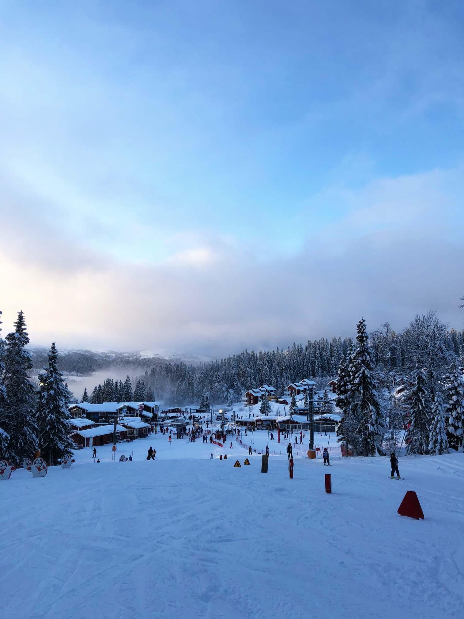 Åre julen 2019 - skidåkning i Åre Björnen