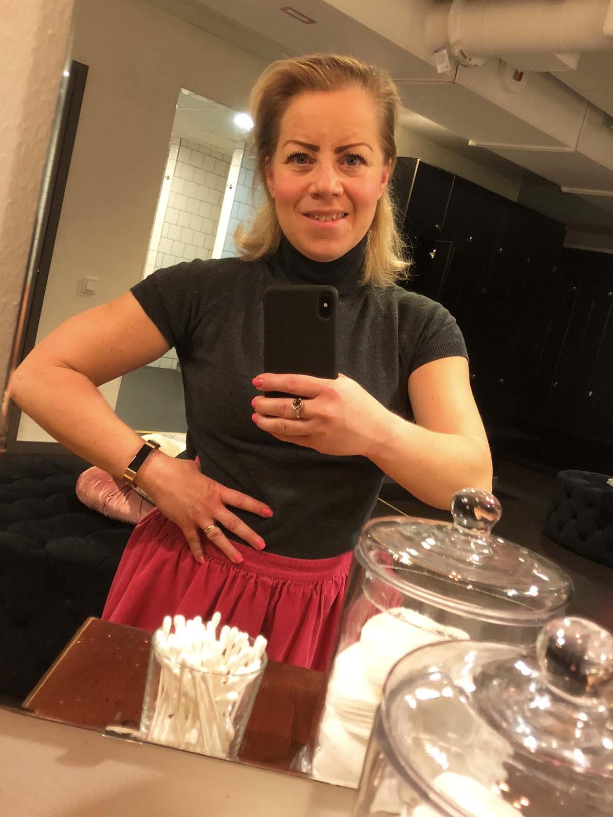 Karin med Fitbit Alta HR